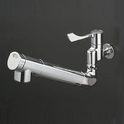 KVK キッチン 【K1610ZN】 寒冷地用 壁付浄水器内蔵自在水栓 [新品]