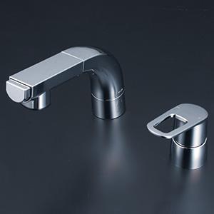 KVK 【FSL120DZKCT】 洗面用シングルレバー(湯側回転角度規制) 寒冷地対応 洗面用水栓 > 台付洗髪シングルレバー [新品]【NP後払いOK】