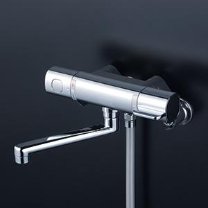 KVK 【FTB100KPFR2T】 サーモスタット式シャワー・ワンストップシャワー付(240mmパイプ付) 浴室用水栓 > 壁付サーモスタット [新品]【NP後払いOK】