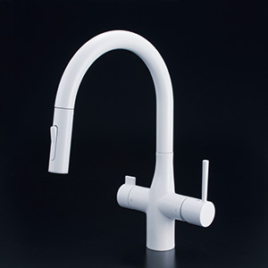 KVK 【KM6081SCECM4】 浄水器付グースネックシングルレバー式混合栓(eレバー) キッチン用水栓 > 台付1穴浄水器付 [新品]【NP後払いOK】