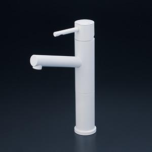 KVK 【KM7041LM4】 洗面用シングルレバー混合栓 ロングボデー マットホワイト 洗面用水栓 > 台付シングルレバー [新品]【NP後払いOK】