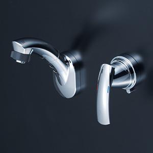 KVK 【KM8069T】 シングルレバー式洗髪シャワー 壁付タイプ 洗面用水栓 > 壁付洗髪シングルレバー [新品]【NP後払いOK】