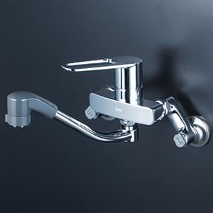 KVK 【MSK110KZERFUT】 シングルレバー式シャワー付混合栓(eレバー) 寒冷地対応 キッチン用水栓 > 壁付シングルレバー [新品]【NP後払いOK】