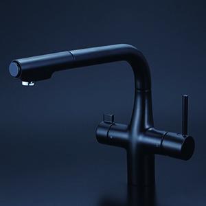 新着商品 KVK 浄水器付シングルレバー式シャワー付混合栓(eレバー)マットブラック 【KM6121SCECM5】[新品], 激安家具の大宝家具 b1ee5fd5