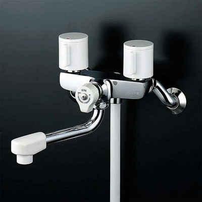KVK 一時止水付2ハンドルシャワー 固定こま 【KF100G3W】[新品]【NP後払いOK】