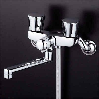 KVK 一時止水付2ハンドルシャワー 固定こま 【KF141WEX】[新品]【NP後払いOK】