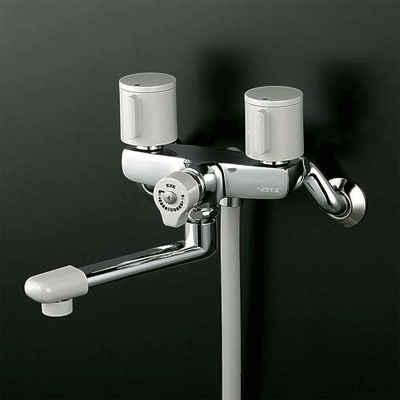 KVK 一時止水付2ハンドルシャワー 固定こま 【KF141G3W】[新品]【NP後払いOK】
