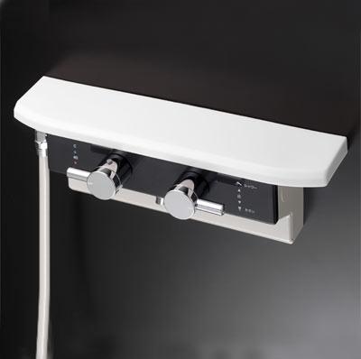 KVK 【KF619L】 ボックス型サーモスタット式シャワー シャワー右側取出[新品]