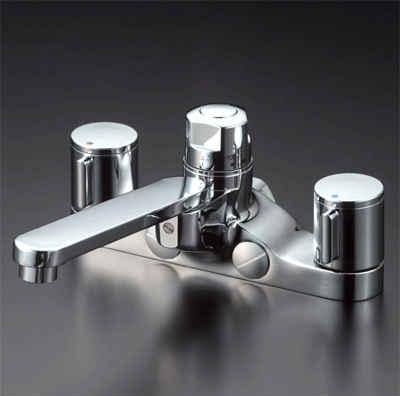 KVK デッキ形定量止水付2ハンドル混合栓 お湯ぴた/2ハンドル混合栓【KM296ZGT】[新品]