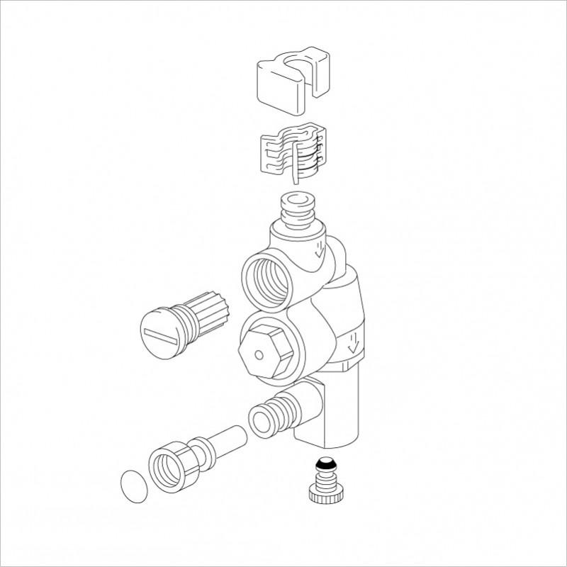 KVK 【KPS1912N/800】 旧MYMFB273GK7B等用減圧弁(寒冷地用) 旧MYM補修部品>構造部品 [新品]【NP後払いOK】