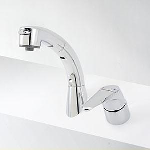 KVK 洗面化粧室 【KM8019T】 シングルレバー式洗髪シャワー 傾斜タイプ [新品]