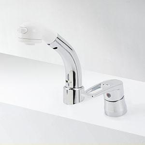 KVK 洗面化粧室 【KM8029T】 シングルレバー式洗髪シャワー 傾斜タイプ [新品]