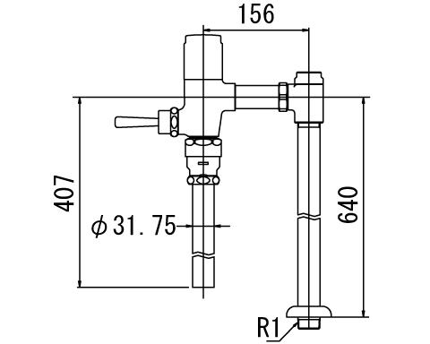 INAX トイレ フラッシュバルブ【CF-6114UTA】 低圧用 洗浄水量6-8L便器用(定流量弁付フラッシュバルブ) 上水用 【CF6114UTA】 INAX・イナックス・LIXIL・リクシル[新品]