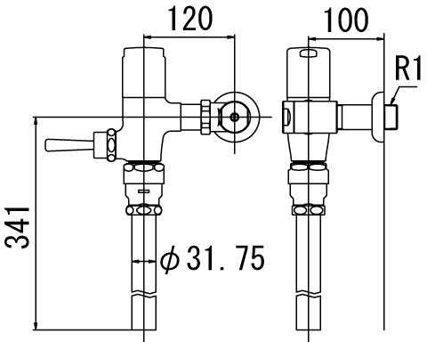 INAX トイレ フラッシュバルブ【CF-T6110H】 寒冷地用 洗浄水量6-8L便器用(定流量弁付フラッシュバルブ) 上水用[納期4週間] 【CFT6110H】 INAX・イナックス・LIXIL・リクシル[新品]