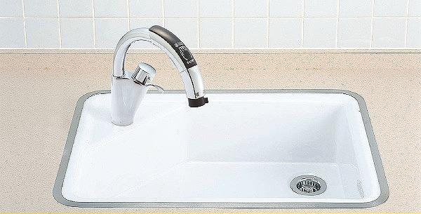 INAX LIXIL リクシル 医療施設用流し フレーム式流し・流し用手かざし水栓【S-7A/BW1】ハイパーキラミック 壁給水・床排水(Sトラップ)[新品]