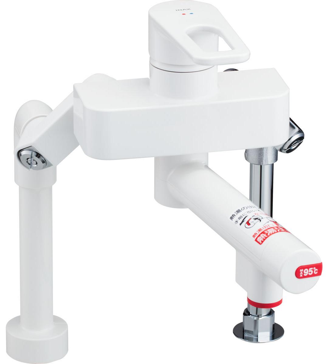 INAX[イナックス]・LIXIL[リクシル] 【SF-WCH350】 電気温水器専用水栓金具 熱湯用水栓 熱湯口付シングルレバー混合水栓(台付ツーホールタイプ) [新品]