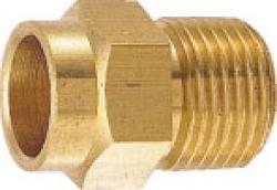 水道材料 フレキ接続銅管アダプター 20X22.22 50個セット[新品]