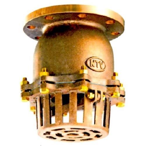 日東バルブ 青銅製フランジ型レバー式フートバルブ <937> 【型式:937-125A 00735652】[新品]