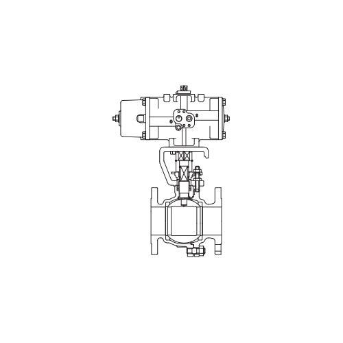 キッツ(KITZ) 自動操作 鋳鋼製ボールバルブ <KITZ-FAS-1> 【型式:KITZ-FAS-150SCTR-150 01409033】[新品]