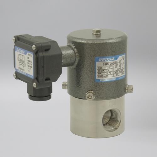 ケイヒン SSPDシリーズ 水・油・空気用 (超高圧電磁弁) <SSPD> 【型式:SSPD-8WAGUKD (AC200V) 00750062】[新品]