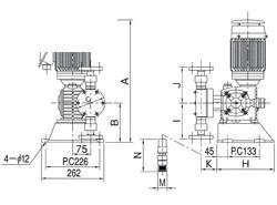 エレポン化工機 直動式ダイヤフラムポンプ シングルヘッドタイプ(SUS316) <CR-6N> 【型式:CR-6N(SUS316) 42041903】[新品]