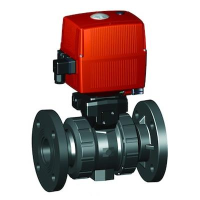 ジョージフィッシャー 130型 電動式ボールバルブ(AC100-230V)手動クランク付 フランジ式 <199 135> 【型式:199 135 058 01602823】[新品]