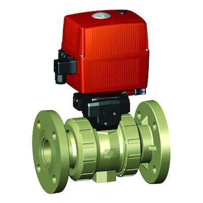 ジョージフィッシャー 131型 電動式ボールバルブ(AC100-230V)手動クランク付 フランジ式 <199 135> 【型式:199 135 124 01602847】[新品]