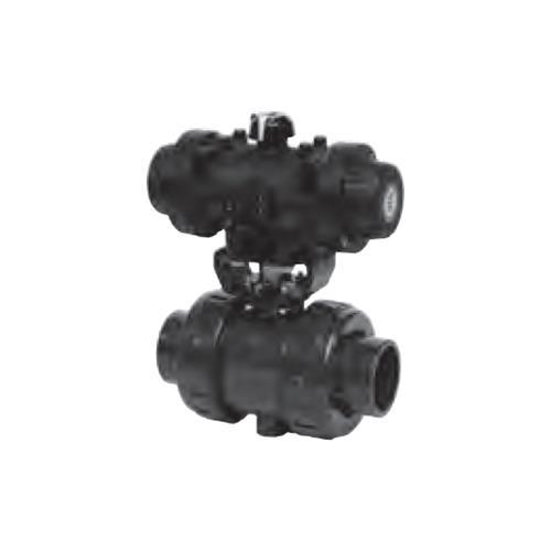 旭有機材工業 ボールバルブ21α型エア式AA型 <A2AAGCEPJ> 【型式:A2AAGCEPJ040 00823586】[新品]