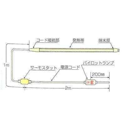 山清電気 パイロットランプ付きレギュラーヒータ <L-RHR2> 【型式:L-RHR2-3 00023963】[新品]