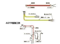 山清電気 アロングヒーター(屋外用) AGTR(セパレートタイプサーモ) 【型式:AGTR-16 42011713】[新品]
