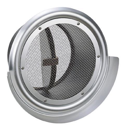 西邦工業 外壁用アルミ製換気口 (フラットグリル(ワイド水切り付)) 金網型10メッシュ 防火ダンパー付 <SND-MC> 【型式:SND200MC 00606115】[新品]