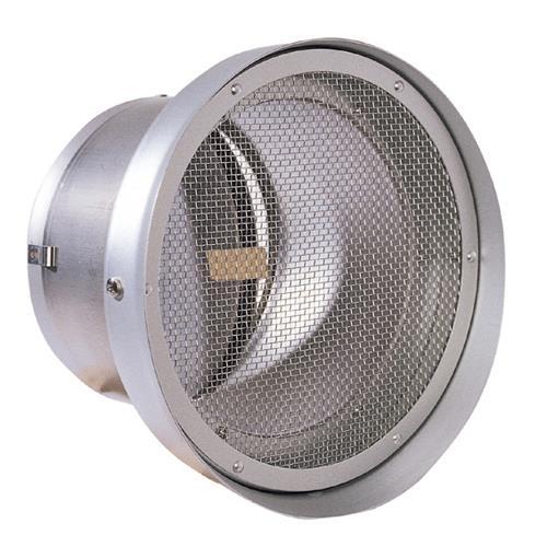 西邦工業 外壁用アルミ製換気口 (フラットグリル(水切り付)) 金網型10メッシュ 防火ダンパー付 低圧損 <SND-TC> 【型式:SND200TC 00606129】[新品]
