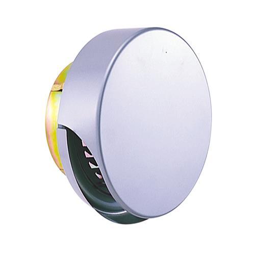 西邦工業 外壁用ステンレス製換気口 (薄型フラットフード) ガラリ型 ワイド水切り付 防火ダンパー付 <SXUD-MS> 【型式:SXUD125MS 00606682】[新品]