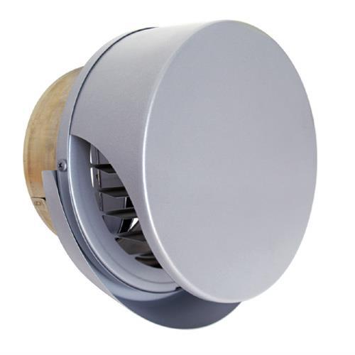 西邦工業 外壁用ステンレス製換気口 (薄型フラットフード) ガラリ型 ワイド水切り付 防火ダンパー付 <SXUD-RMSC> 【型式:SXUD150RMSC 00606706】[新品]