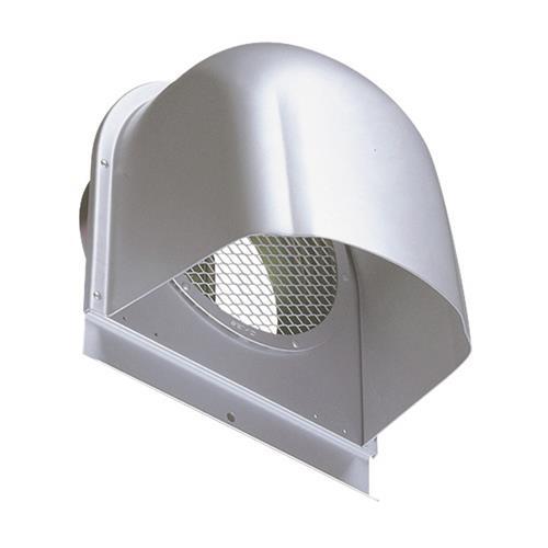 西邦工業 外壁用アルミ製換気口 (深型フード) 金網型7x14ラス網 下部開放タイプ 防火ダンパー付 <CFND-A> 【型式:CFND125A 00607030】[新品]