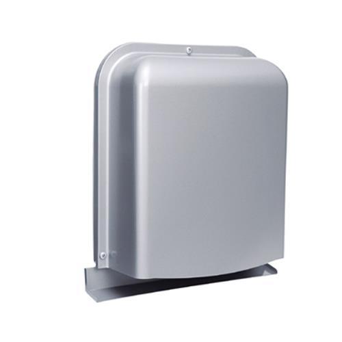西邦工業 外壁用ステンレス製換気口 (深型フード ワイド水切り付) 薄型内ガラリ 下部開放 <GFX-GAS> 【型式:GFX200GAS 00607527】[新品]