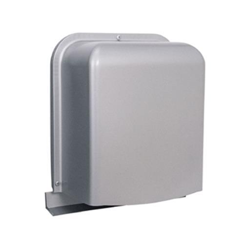 西邦工業 外壁用ステンレス製換気口 (深型フード ワイド水切り付) 厚型 ガラリ型 下部開閉タイプ <GFX-S> 【型式:GFXK125S-VM 00607557】[新品]