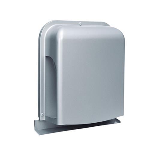 西邦工業 外壁用ステンレス製換気口 (深型フード ワイド水切り付) 薄型内ガラリ 左右下部開放 <GXU-S> 【型式:GXU125S 00607566】[新品]