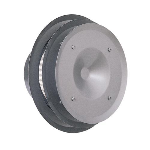西邦工業 外壁用ステンレス製換気口 (パイプフード) 金網型10メッシュ 多層フラットカバー付 耐外風 <PFN-S> 【型式:PFN125S 00607582】[新品]