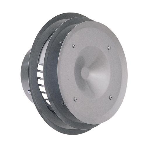 西邦工業 外壁用ステンレス製換気口 (パイプフード) ガラリ型 多層フラットカバー付 耐外風 <PFX-S> 【型式:PFXK125S-VM 00607595】[新品]