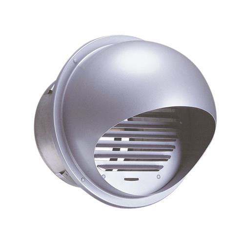 西邦工業 外壁用ステンレス製換気口 (逆風防止ダンパー付) セルフード 同芯ガラリ型 <SFXC-S> 【型式:SFXC150S 00607729】[新品]