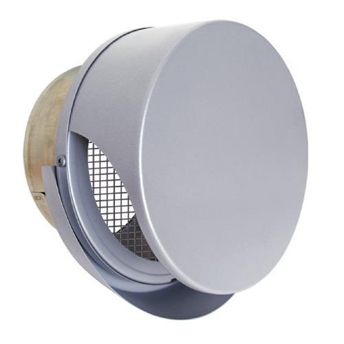 西邦工業 外壁用ステンレス製換気口 (薄型フラットフード) 金網型3メッシュ ワイド水切り付 薄型フード <SNU-RMS> 【型式:SNU125RMS 00607796】[新品]