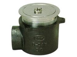 アウス 非防水用床排水トラップ・共栓付・横型 <D-5AYT> 【型式:D-5AYT 42040850】[新品]