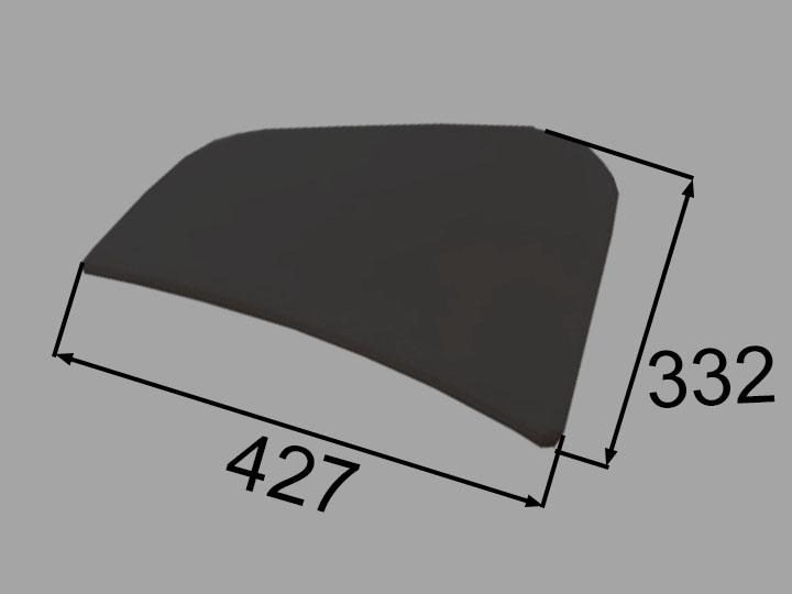 INAX・LIXIL 浴室部品 クッション【CCB-4-L/K】ブラック 浴室レスト・クッション品 [新品]