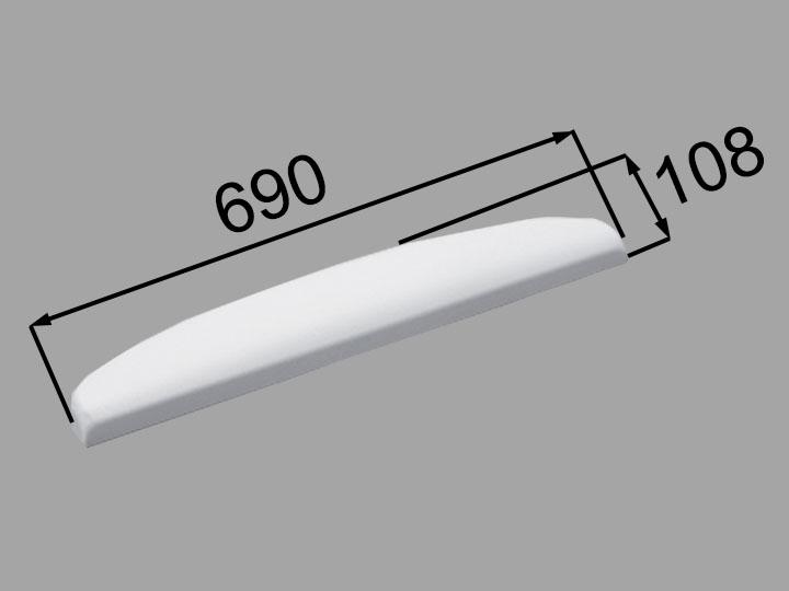 INAX・LIXIL 浴室部品 ヘッドレスト【YCH-5A/W】ホワイト 浴室レスト・クッション品 [新品]