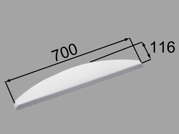 INAX・LIXIL 浴室部品 ヘッドレスト【YCH-7A/W】ホワイト 浴室レスト・クッション品 [新品]