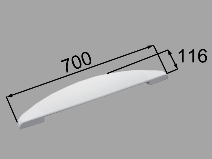 INAX・LIXIL 浴室部品 ヘッドレスト【YCH-7B/W】ホワイト 浴室レスト・クッション品 [新品]