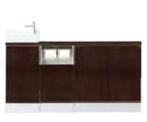 INAX キャパシア カウンター奥行160 手洗器一体型人造大理石カウンター 間口780~ 自動水栓 手すりなし セミオーダープラン 左仕様 給水共通・床排水 【AN-AMLDADKXAEX】[新品]