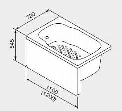 ノーリツ ガス給湯機器 バスイング(GTS)専用部材 FRP浴槽SP L/R(水栓穴無し) 【左排水】 1100mmタイプ【1172/C0N L】【1172-C0NL】[新品]