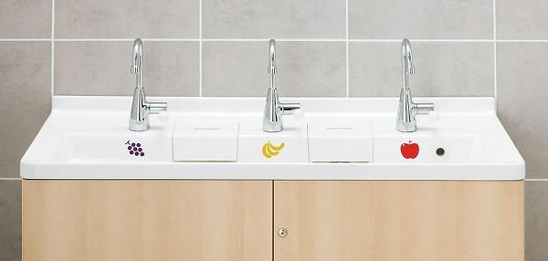 INAX・LIXIL 幼児用マルチシンク【PS-A30C6HA】 カウンター高さ600mm マルチシンク用立水栓 電気温水器なし 壁給水・床排水 [納期1週間] 【メーカー直送のみ・代引き不可・NP後払い不可】[新品]